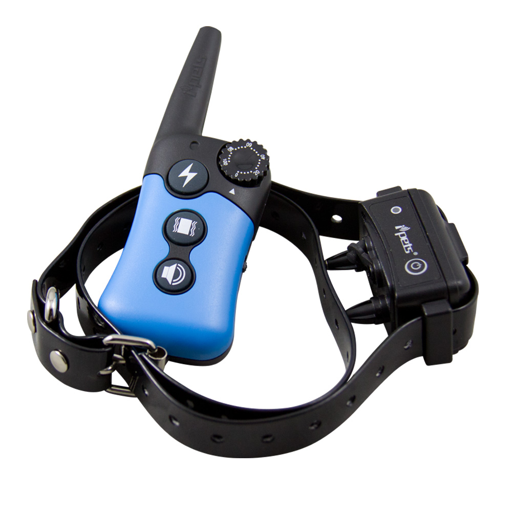 Hot ipets PET619S 1 Pet dog Training Collar 330yd Rechargeable and Waterproof Training for 1 or