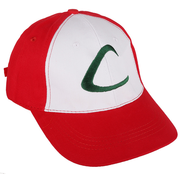 Pokemon Ash Ketchum Cap | Adjustable Curved Visor Hat | Baseball Cap