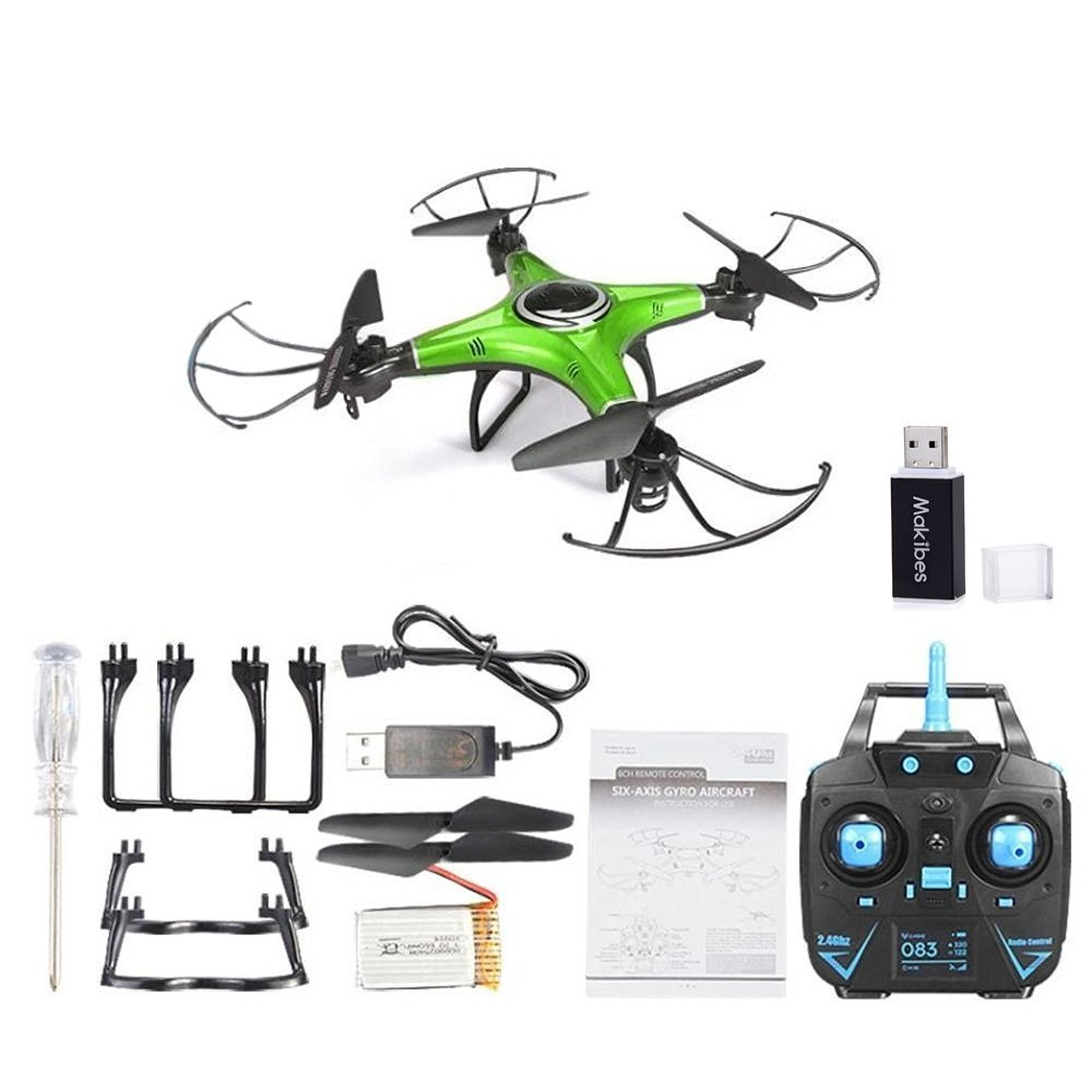 H5M RC Drone With HD Camera Music Function One Key to Roll/Return Headless Mode 3D Flip Quadcopter RTF with Makibes Card Reader jjrc upgraded h5c headless mode one key return rc quadcopter helicopter drone with 2mp camera rtf 2 4ghz
