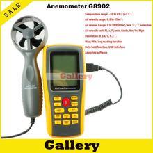 Anemometro Цифровой Продажа Rpm Тахометр Ветер Анемометр Gm8902 с Компьютера Программное Обеспечение, Онлайн Измерения И Анализа