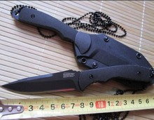 7223 Necklace Straight Tactical Knife Fixed Blade Outdoor Survival Cutting Tools for Outdoor Sports Camping Hunting Household