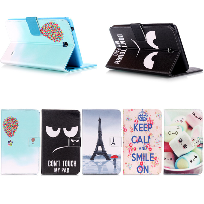 Fashion Black eye pattern For Samsung Galaxy Tab 4 7.0 SM-T230 T231 T235 Leather Case Cover Tablet Accessories M3A25D