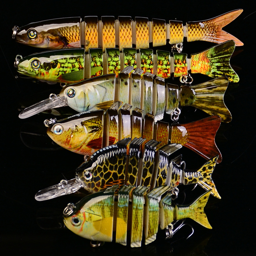 6pcs Big Fishing Lures Crankbait Bass Minnow Hooks Crank Bait Poper Hard Plastic Wobler Lures Fishing Lure Set 6# цена