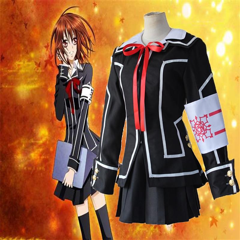 Hot Anime Vampire Knight Cosplay Kuran Yuki Black School Uniforms Full Sets Cosplay Costume Halloween Carnival Party Cosplay