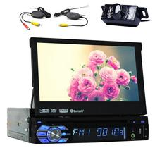 7 Inch Capacitive Detachable Panel Single One Din Car Radio dvd Mutilmedia player Auto Radio 1 Din Bluetooth Gps Rear View Camer