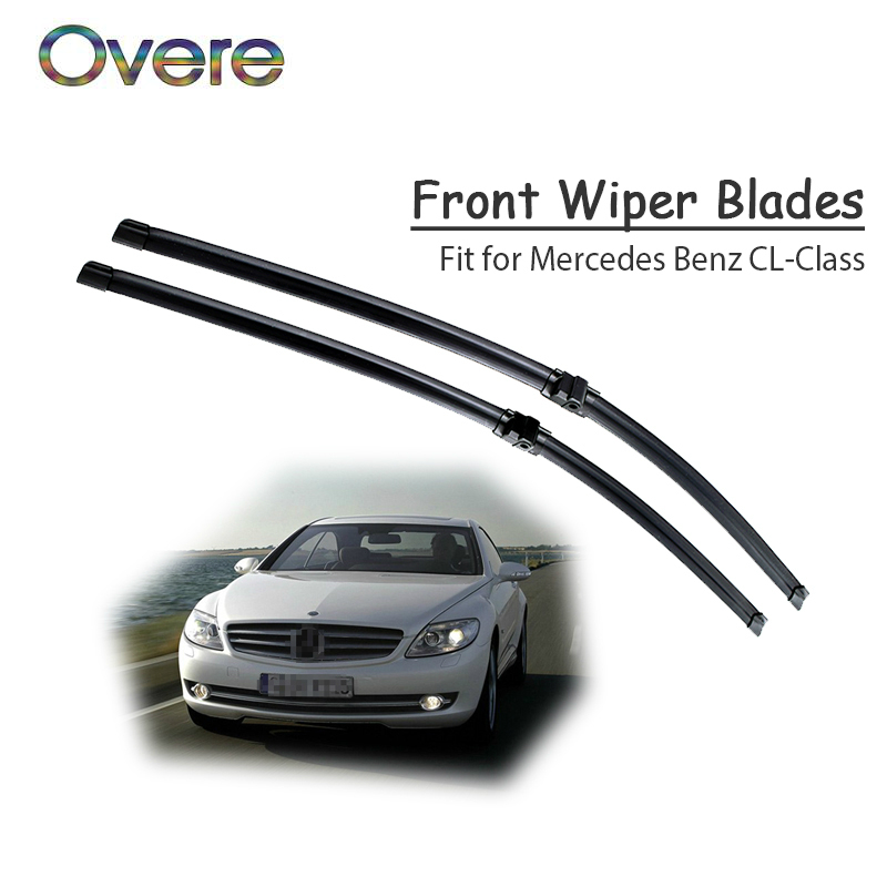 Overe 1Set Rubber Car Front Wiper Blade Kit For <font><b>Mercedes</b></font> Benz <font><b>CL</b></font> Class W215 W216 <font><b>CL</b></font> <font><b>500</b></font> 55 63 65 AMG Original Accessories image