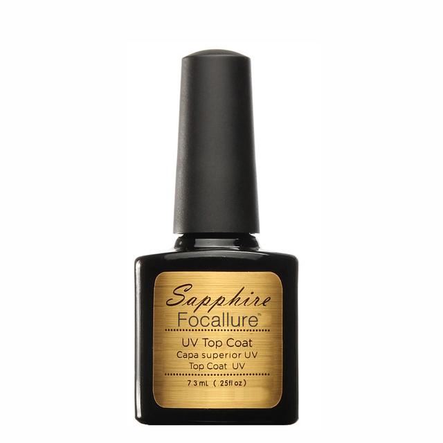 UV Top Coat + UV Base Coat Foundation for UV Gel Gel Polish Top it off 30 day long lasting Sapphire Nail Gel 7.3g