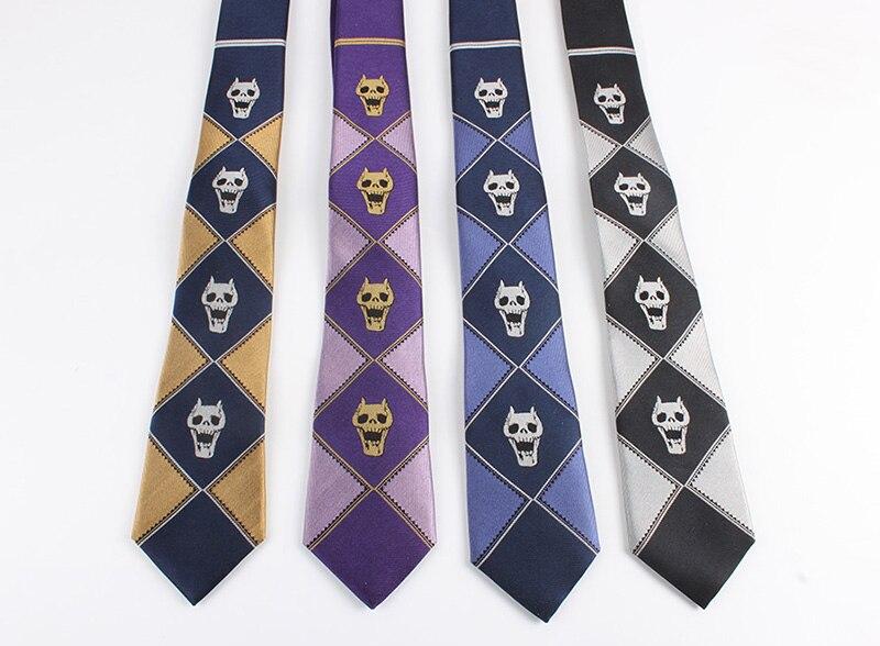 Приключения Джоджо Кира yoshikage убийца Queen Косплэй галстук демон Череп Скелет шелк Для мужчин галстук