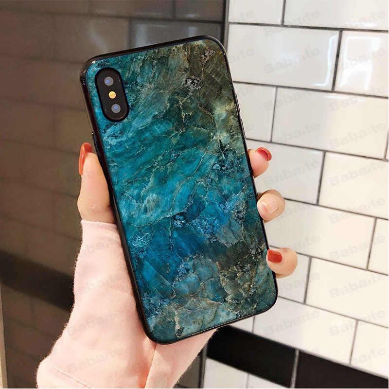 Babaite アンバー大理石 TPU 黒電話ケース Apple の Iphone 5 X XS 最大 5 5S 、 SE XR 7 8 6 6S プラスカバー