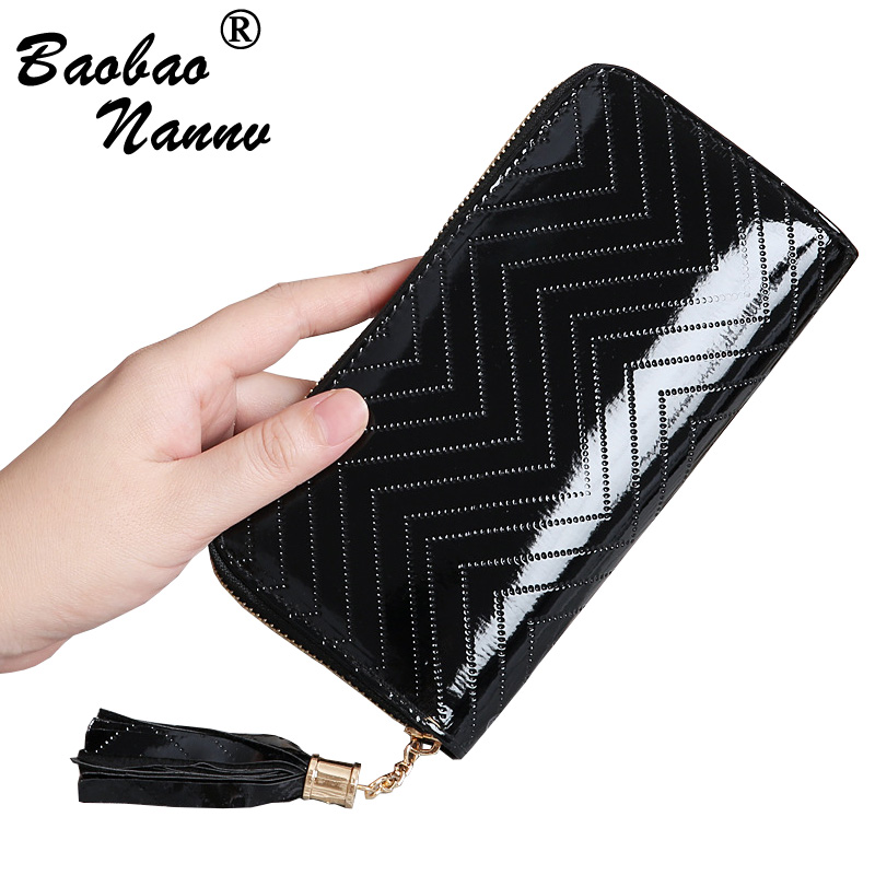 2019 Women Wallet Purse Female Long Wallet Golden Black Pouch Handbag For Lady Coin Purse Card Holders Portefeuille Femme