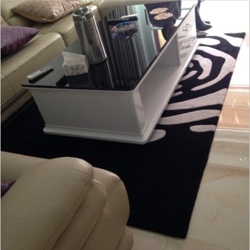 Континентальный Классический черный и белый ковер ручной акриловый ковер для гостиной и спальни в форме цветка ТАПИС салонный ковер