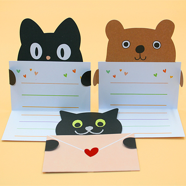 18 pieceslotmini cute kawaii invitation card lovely cartoon animal 18 pieceslotmini cute kawaii invitation card lovely cartoon animal birthday card m4hsunfo