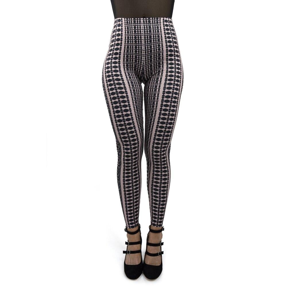 Hot Sale Black Block Printing Women Slim Fitness Sexy Seductive Workout Leggings Stylish Minimalist Leggings