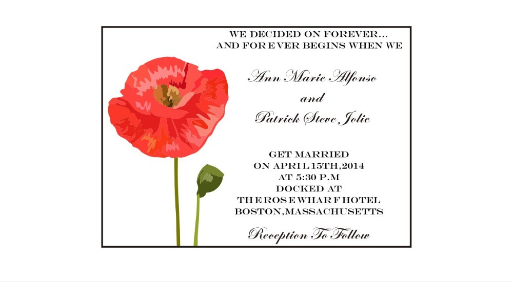 An Exle Of A Single Wedding Invitation With The Design On Vellum Overlay And
