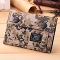 Canvas Men Wallets With Coin Zipper Short Money Bag Pocket For Credit Card Boys Student 3 Fold Coin Purse Wallets