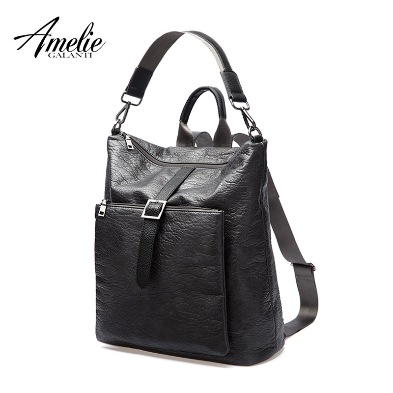 AMELIE GALANTI Newest Backpacks Unisex Fashionable avant-courier multifunction Soft advanced PU fabrics amelie galanti brand tote handbag