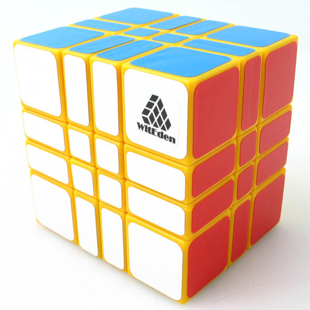 Zhi Li Le Yuan Witeden 4x4x3 Yellow Magic Cubes Puzzle Speed Rubiks Cube Educational Toys Gifts for Kids Children