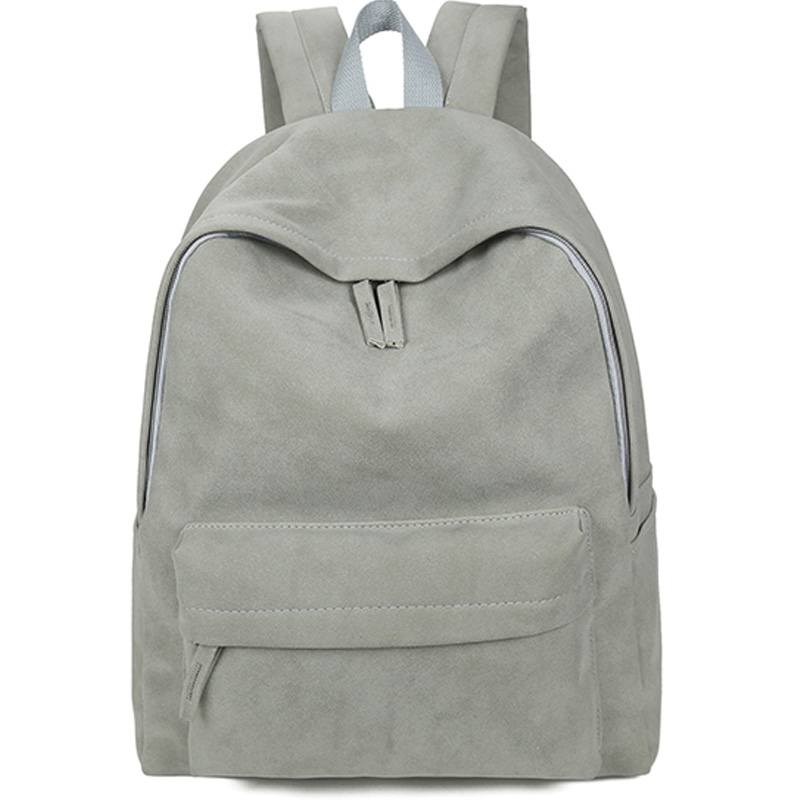 Simple Style Women s Backpack College Wind Solid School Bag For Teenage Girls Leisure PU Leather