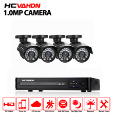 CCTV System 4CH 720P Outdoor Security Camera 4CH 1080P P2P DVR HVR Onvif NVR Surveillance Kit  CCTV 4ch AHD CCTV camera system