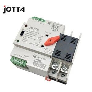 Image 2 - Jotta W2R 2P 110 V/220 V Mini Ats Automatische Overdracht Schakelaar 100A 2P Elektrische Selector Schakelaars Dual Power schakelaar Din Rail Type