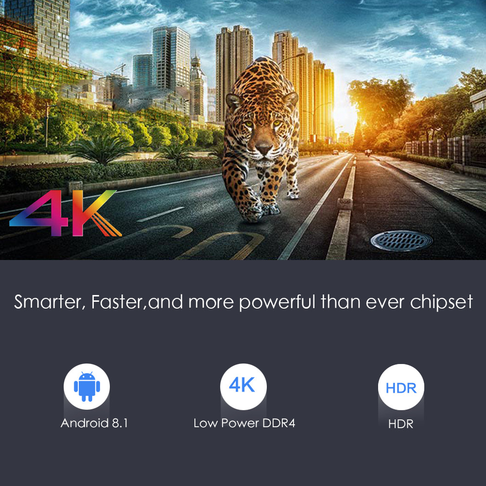 Smart 4 K Android 8.1 TV Box X96S Amlogic S905Y2 DDR4 4 GB 32 GB X96 Mini PC TV Stick 5G WiFi Bluetooth 4.2 TV Dongle lecteur multimédia - 3