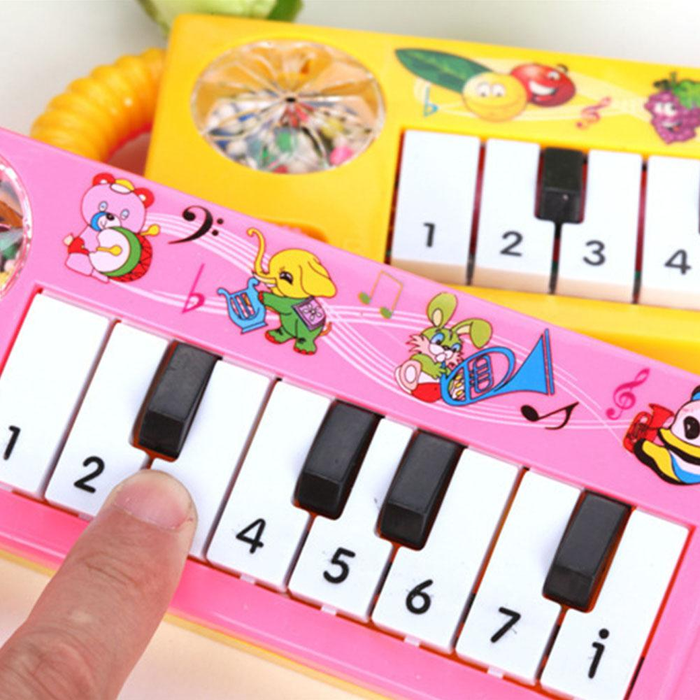 US $1 82 22% OFF|LeadingStar Baby Infant Toddler Kids Musical Piano  Developmental Toy Early Educational Game Toy Random Color-in Toy Musical