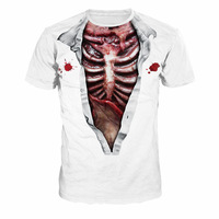 Horror 3D Internal Organs T Shirt Men Fitness Casual Summer Tops Cosplay Male Streetwear Fitness Harajuku