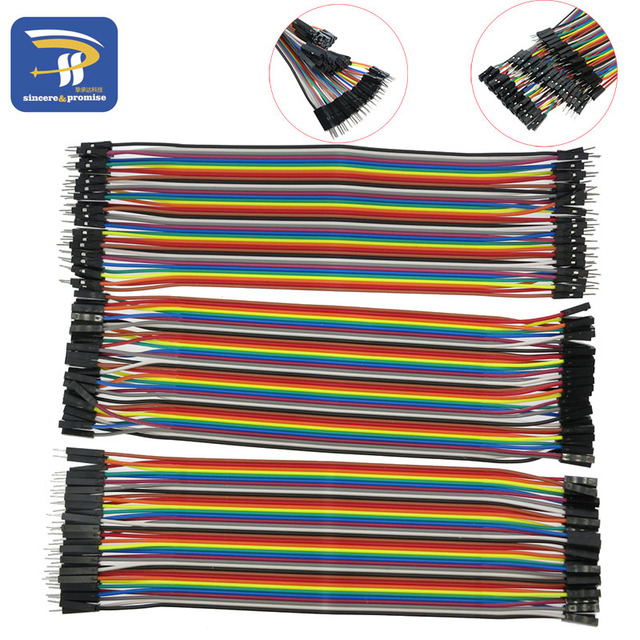 Dupont line 120pcs 20cm 1P-1P Male to Male + Male to Female and Female to Female jumper wire Dupont cable for Arduino DIY Kit