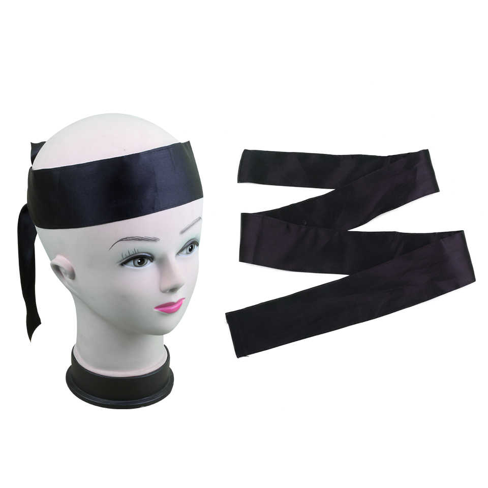 Blank Stock edge Satin Scarf Virgin Hair Extensions Wrapping Head Bands Women Human Hair Forehead Wraps Headband,hair tie band