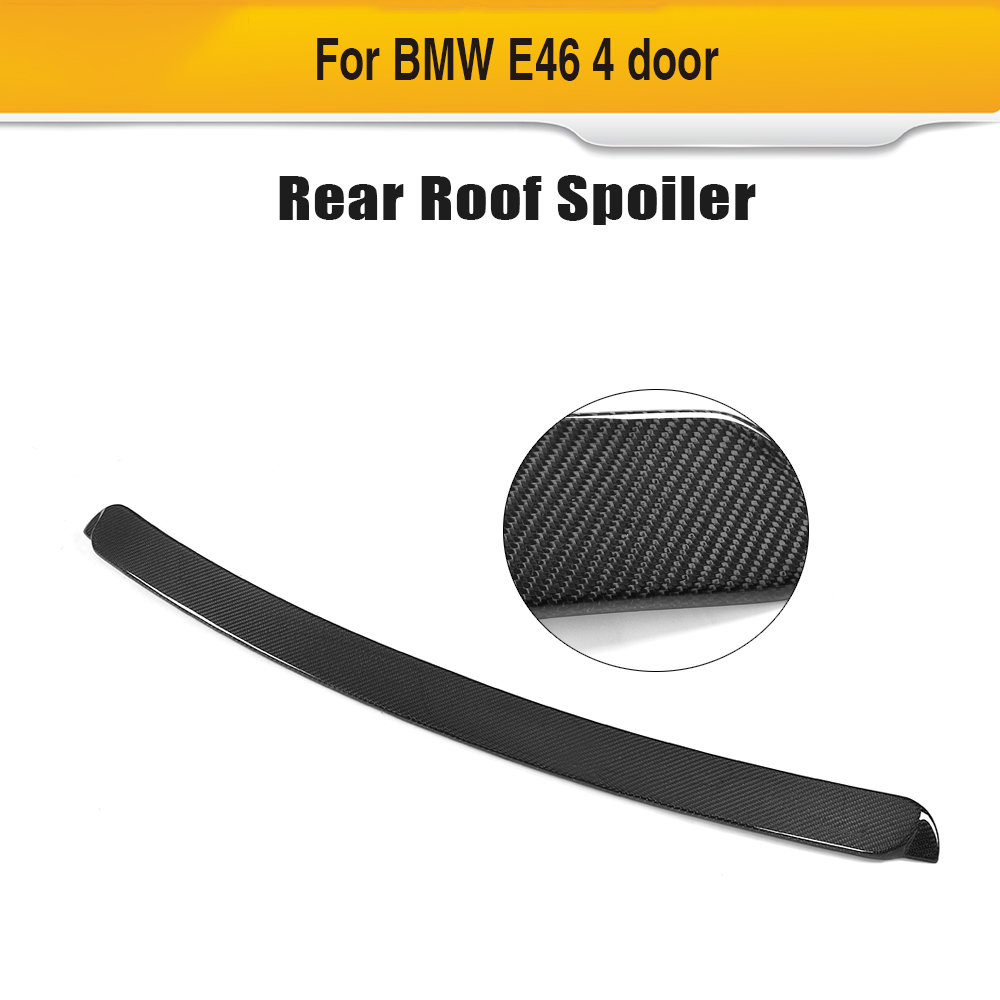 Carbon fiber car roof spoiler auto rear window wing for BMW E46 4 door 1998-2004 C styling partol black car roof rack cross bars roof luggage carrier cargo boxes bike rack 45kg 100lbs for honda pilot 2013 2014 2015