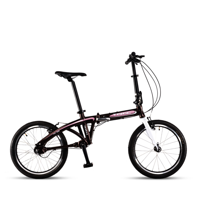 TDJDC D20, 20″ 3 Gear No-Chain Folding Road Bike, Sport Bicycle, Shaft Drive Bike, Light Weight Aluminum Alloy Frame
