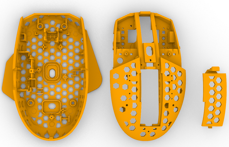 Air Bottom Lightweight 63g Mouse MOD Reduced With Sidebar Shell For Logitech G304 G305 WMO Finalmouse Hollow Out Phantom