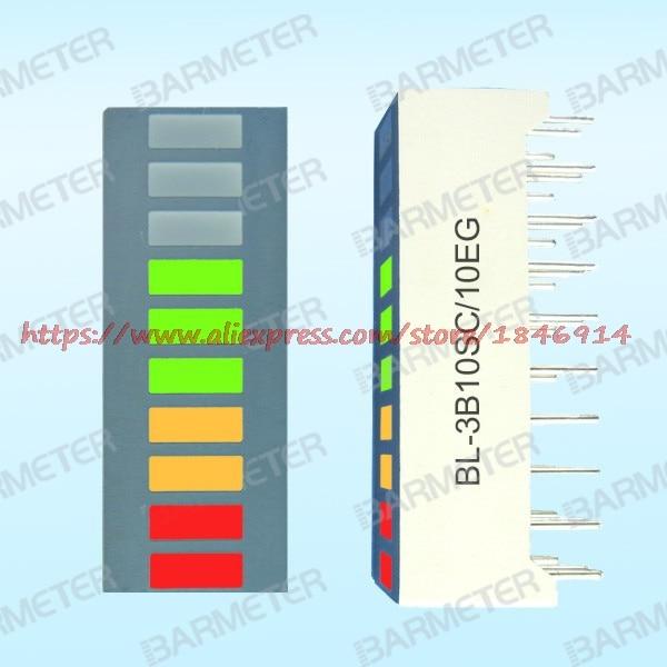 BL-3B10SC/10EG The 10 Section Three LED Bargraph Display