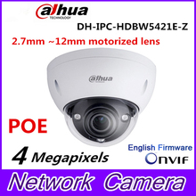 Original Dahua DH-IPC-HDBW5421E-Z 4MP POE HD 2.7mm ~12mm motorized lens 4MP Network Vandal-proof IR Dome Camera IPC-HDBW5421E-Z