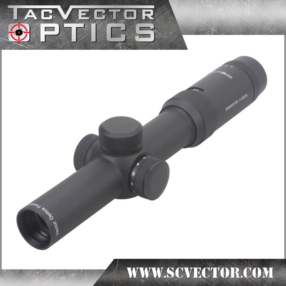 Vector Optics Forester 1-5X24 IR Portée de Fusil Super Lumineux Clair Sans Bord Image Haute Quingity 30mm Rilfescope pour La Chasse Tirer