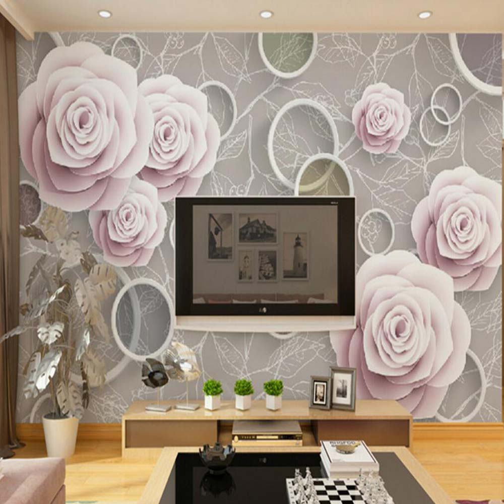 Buy 3d embossed flower wall mural photo for Buy mural wallpaper
