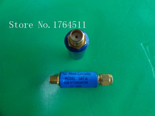 [BELLA] MINI SAT-6 DC-1.5GHz 6dB 2W SMA Coaxial Fixed Attenuator  --5PCS/LOT