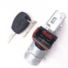 Замок зажигания ствол стартер переключатель+ ключ для Renault для Vauxhall Fiat 2005-2012 7701208408 8200214168 N0502064 N0502060 N0502057