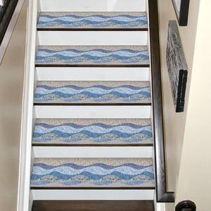 Image 5 - ホット防水自己粘着階段ステッカー、リムーバブルキッチン自己粘着階段ステッカータイルステッカー壁紙階段 Fl