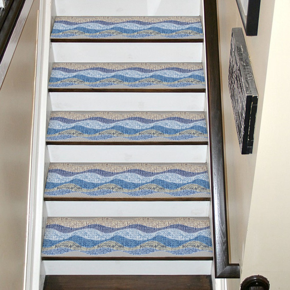 Image 5 - Hot Waterproof  Self Adhesive Stair Stickers,Removable Kitchen Self Adhesive Stair Stickers Tile Decals Wallpaper Stair Fl-in Wall Stickers from Home & Garden