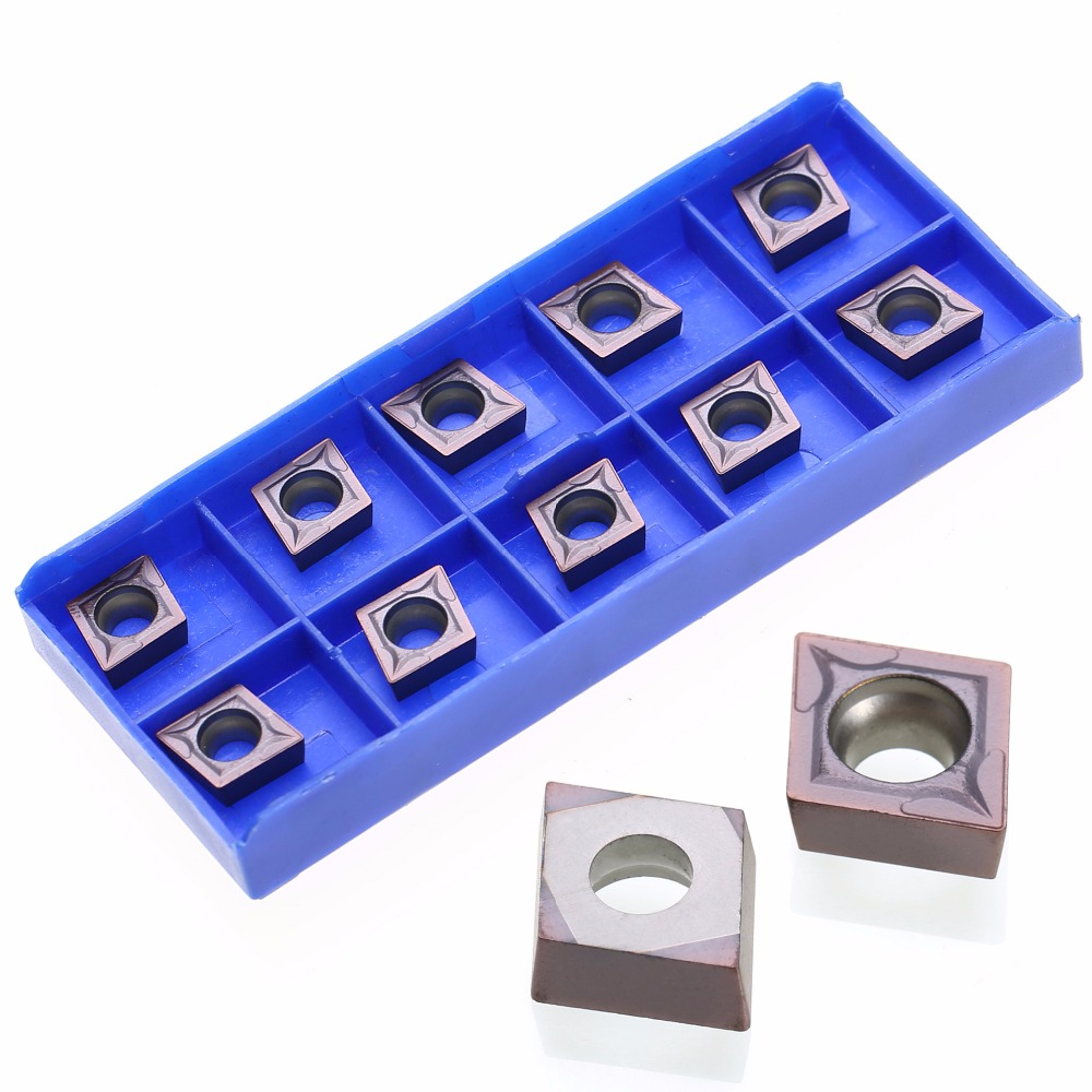 10pcs/lot Carbide Inserts CCMT09T304 VP15TF Inserts For Lathe Turning Tool