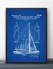 Herreshoff парусная лодка патент печать схема настенное Искусство