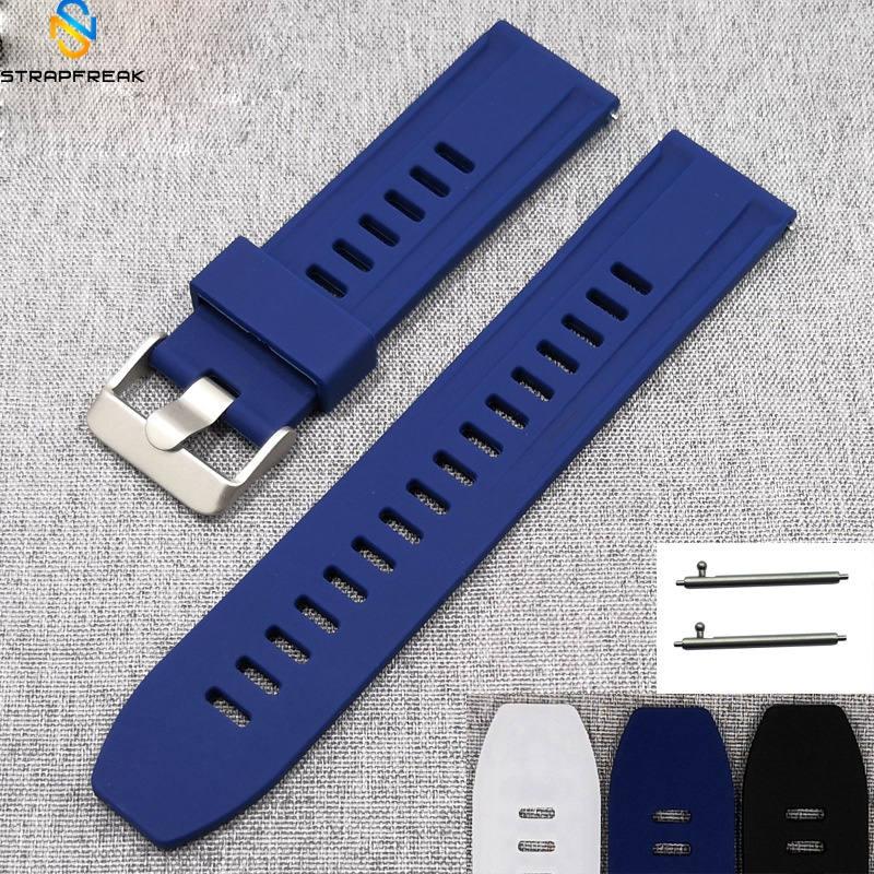 Silicone Watchband For Samsung 360 Huawei Smart Watch Men Quick Release Bracelet Band Strap For Smart Watch 18mm 20mm 22mm 24mm