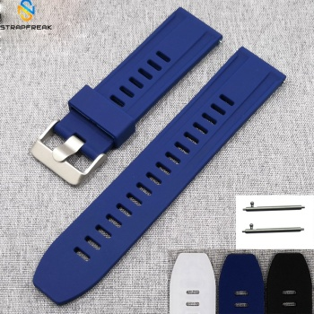 Silicone Watchband for Samsung 360 Huawei Smart watch men Quick Release Bracelet Band Strap for Smart Watch 18mm 20mm 22mm 24mm calfskin leather watchband quick release watch band wrist strap 18mm 20mm 22mm 24mm smart watch strap watches accessories