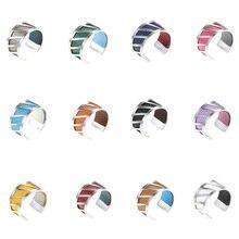 Legenstar Creative Sliver Rings For Women Anillos 2019 Men DIY Stainless Steel Reversible Leather Lover Ring Bijoux Bague Femme