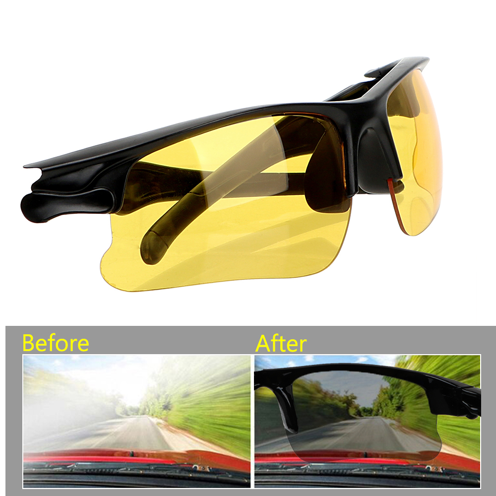 Anti Glare Night-Vision Glasses Driving Glasses Night Vision Drivers Goggles Protective Gears Sunglasses Interior Accessories
