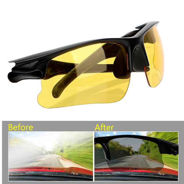 0fec5bb8c7 Anti Glare Night-Vision Glasses Driving Glasses Night Vision Drivers  Goggles Protective Gears Sunglasses Interior
