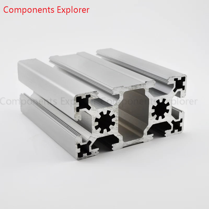 Arbitrary Cutting 1000mm 4590W Aluminum Extrusion Profile,Silvery Color.