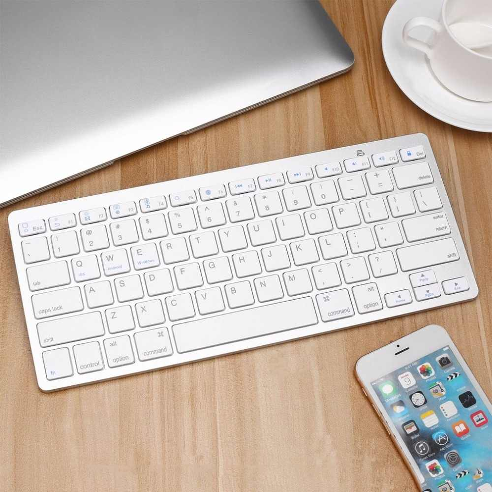Hot Sale Super Slim Wireless Bluetooth Keyboard untuk Air iPad MINI MAC Komputer PC Macbook Peomotion