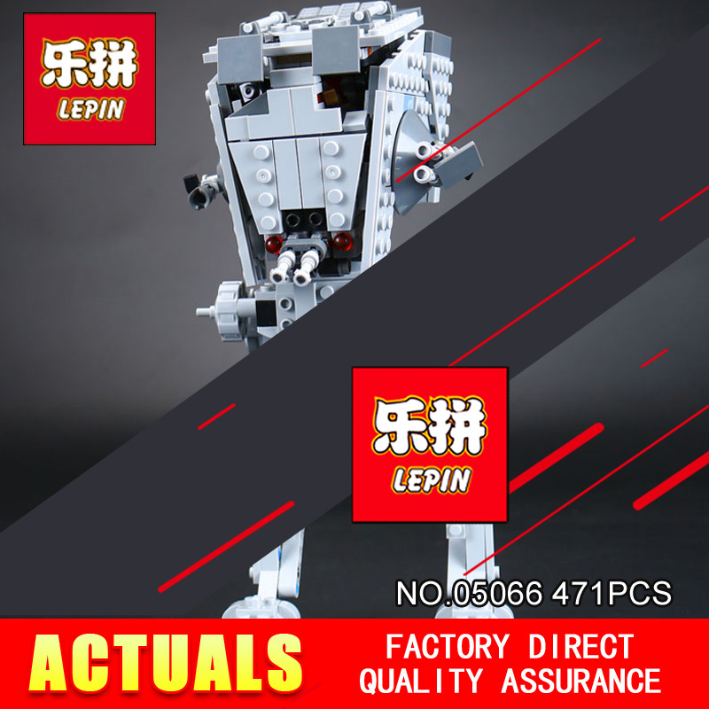 Free shipping Lepin 05066 471Pcs Star Classic Model Wars AT-ST Walker  Building Blocks Bricks Model Toys 75153 to children toys walker рюкзак школьный base classic tornado